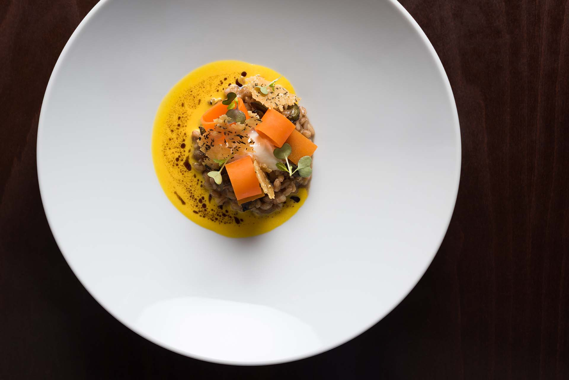 SPELT RISOTTO WITH PUMPKIN AND BURRATA